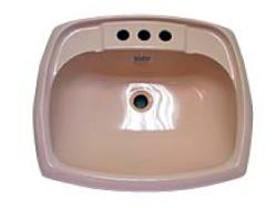 Plastic Bathroom Sink : Rectangular Ivory Plastic Bathroom Sink 17 x 20 [53163804]